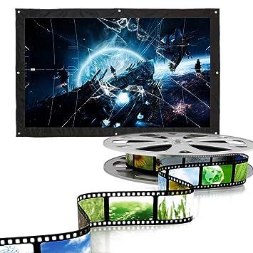 Pantalla de proyector portátil, 60, 100, 200 Pulgadas Proyector de ...