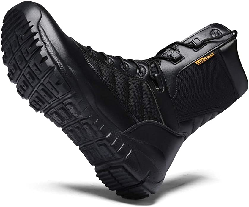 Logobeing Botas Montaña Hombres Botas Antideslizantes para El Desierto Botas de Escalada Tácticas para Exteriores Zapatilla Hombre Senderismo (39, Negra): Amazon.es: Zapatos y complementos