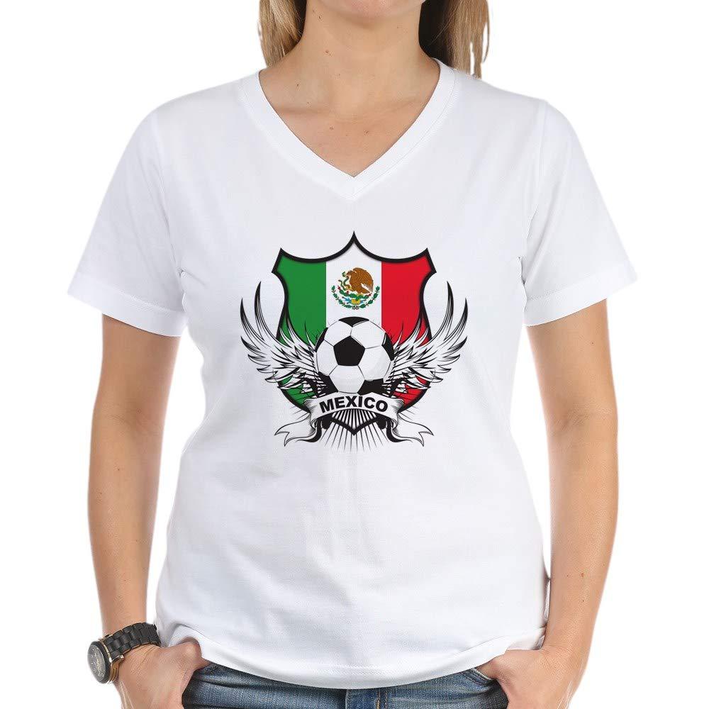 Mexico World Cup Soccer V T Shirt 5158
