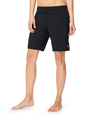 "25927d8cf1 Baleaf Women's 9"" Long Board Short Swim Short with Built-in Liner ( Elastic"