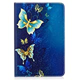 iPad Mini Case, iPad Mini 2 Case, iPad Mini 3 Case,Beimu 3in1 Hybrid Shock Absorbing Defender Rugged Silicone Hard Case Full Body Protective Cover With Stand For Apple iPad Mini 1/2/3 Blue butterfly