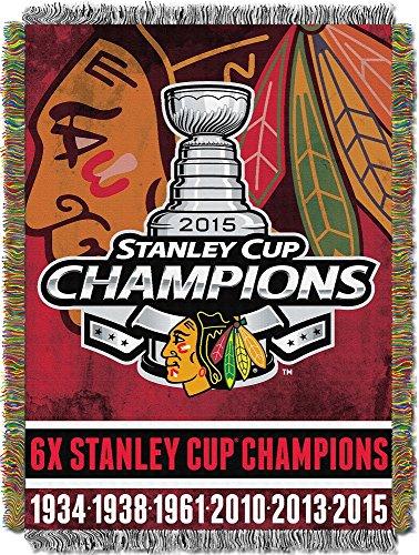 NHL Chicago Blackhawks Tapestry Throw Blanket, 48-Inch/60-Inch