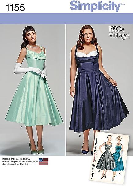 Amazon.com: Simplicity 1155 Women\'s Plus Size 1950s\' Vintage ...