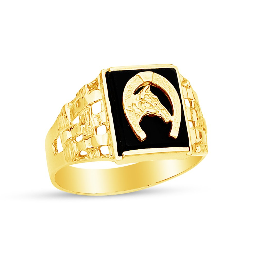 Jewel Tie Solid 14k Yellow Gold Mens Ring Size 12