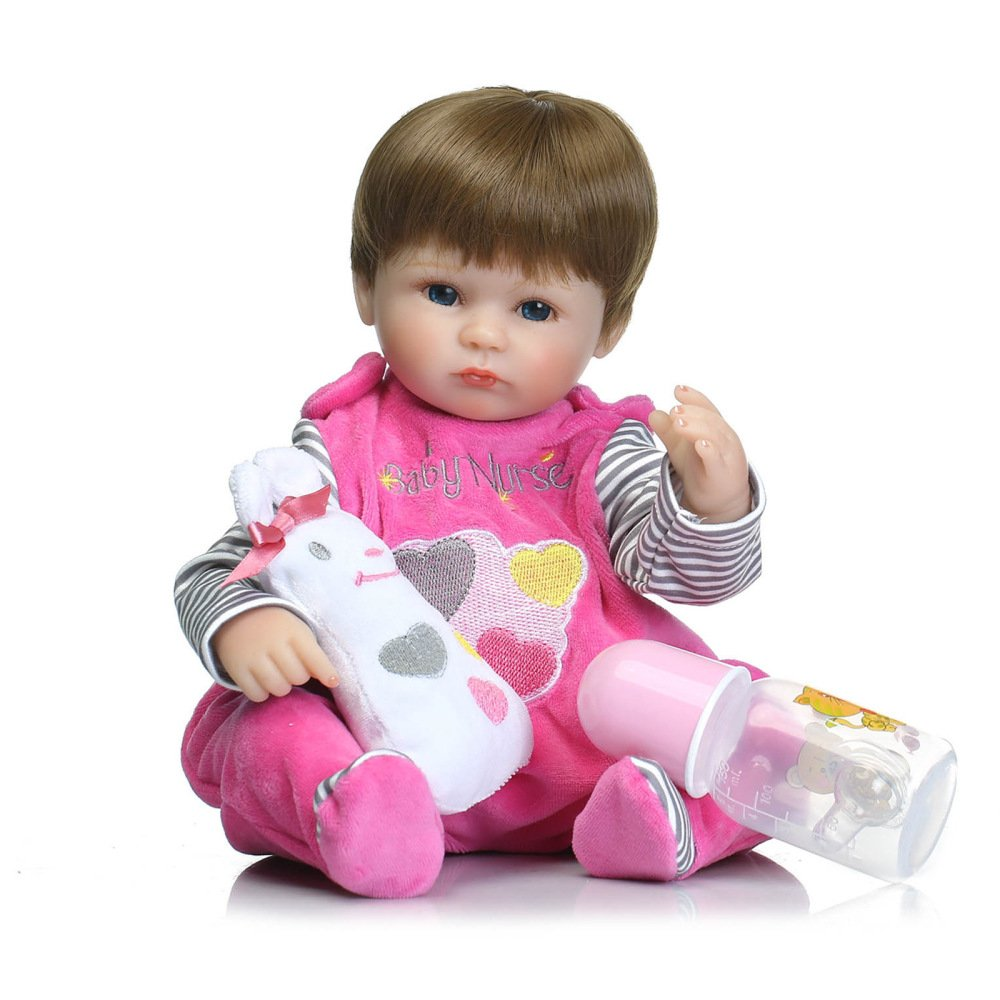 YYWJTOY Spring ring toy Simulation Baby Rebirth Doll Highgrade Silicone Production Doll Toy kids toys