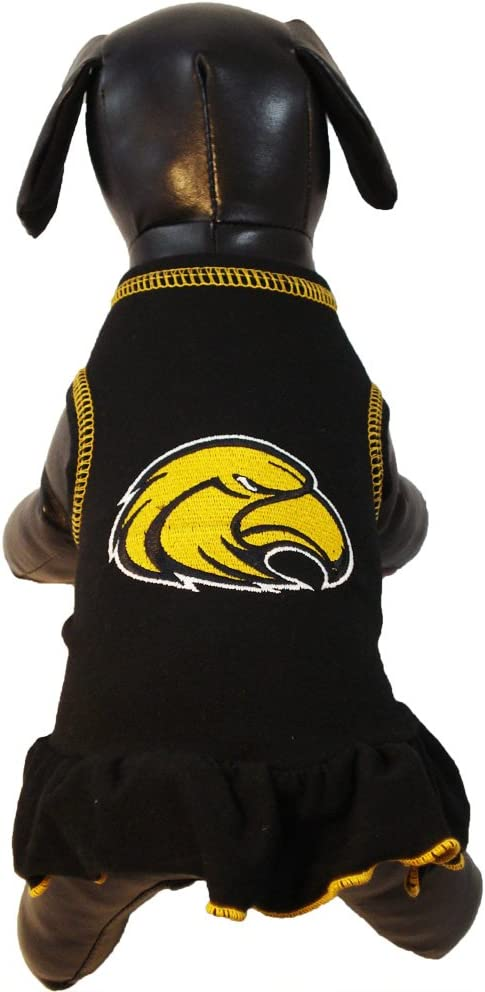 NCAA Southern Mississippi Golden Eagles Cheerleader Dog Dress Team Color, Tiny