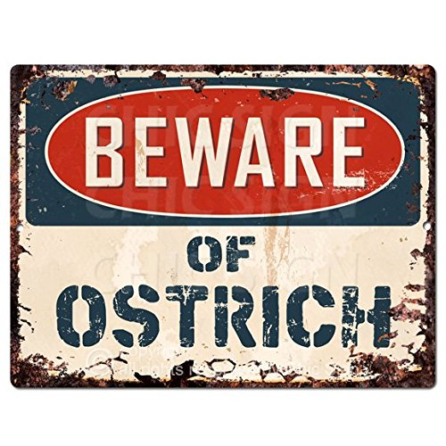 Beware of OSTRICH Chic Sign Vintage Retro Rustic 9