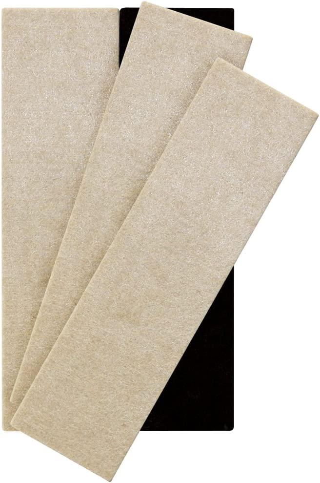 "SuperSliders 4703795N Reusable XL Felt Furniture Movers for Hardwood Floors – Move Heavy Furniture Quickly and Easily, 2-1/2"" x 9"" Linen (4 Pack)"