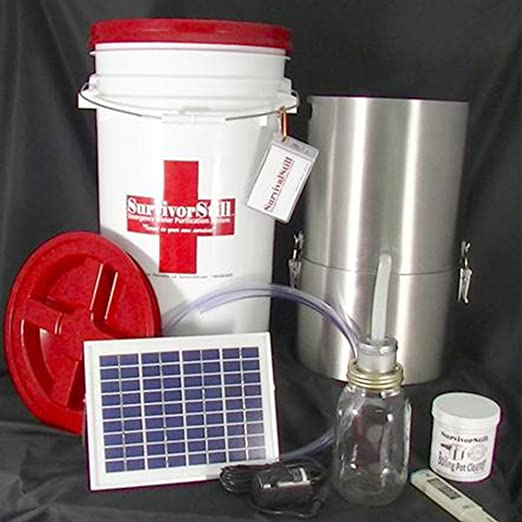 Solar-Powered Non-Electric Emergency Water Distiller and Water Purifier