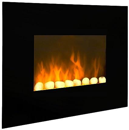 Efydis Blackfire Caminetto Elettrico Da Parete In Acciaio E Vetro