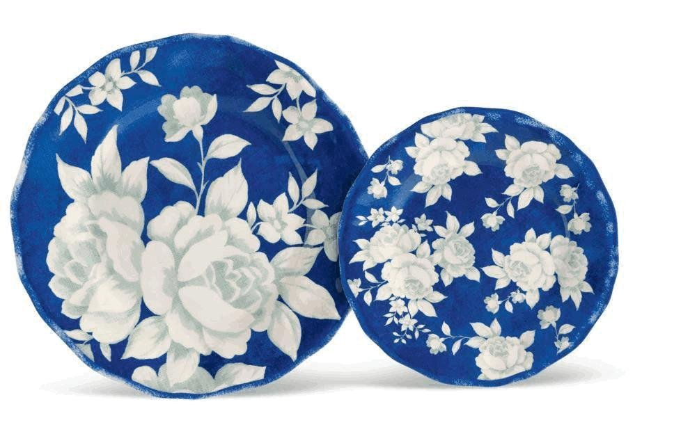 Grasslands Road In The Blue Round Ruffled Floral Dinner Plate #471107