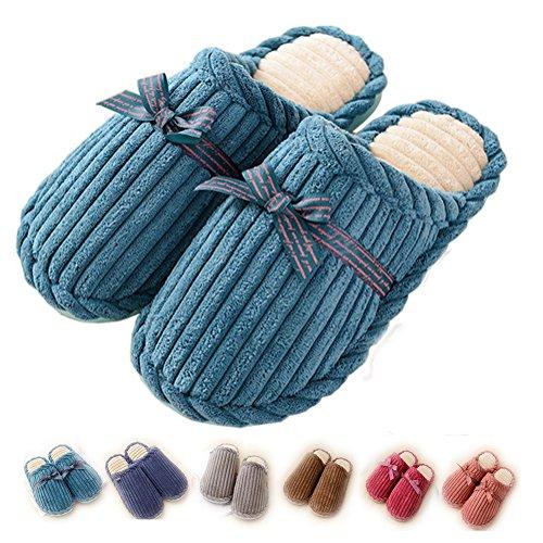 Asifn Men Slippers Indoor Green Slip Cozy Home Non Slides House Memory Flops Warm Foam Flip Shoes House Women xrnrg1qw