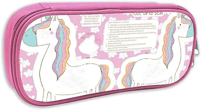 Estuche de lápices Infantil,Unicornio de Peluche Cortado y Coser Almohada Unicornio, Unicorn Toy, Unicorn Softie, Fat Quarter Project_2788, Rosado: Amazon.es: Juguetes y juegos