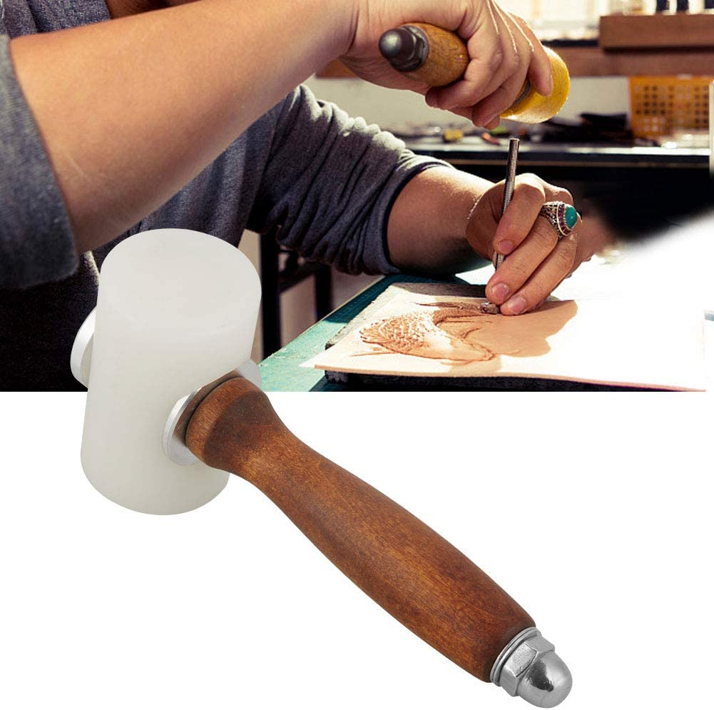 Leather Hammer Printing Nylon Leather Hammer Leather Printing Carving Leather Craft Tool for Crafts