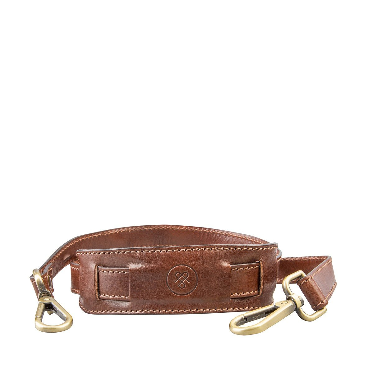 Maxwell Scott Luxury Tan Leather Bag Shoulder Strap - One Size