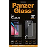PanzerGlass - Screen Protector for iPhone SE 2020/8/7/6S/6 - Perfect Fit, Scratch Resistant, Easy Installation - Jet Black
