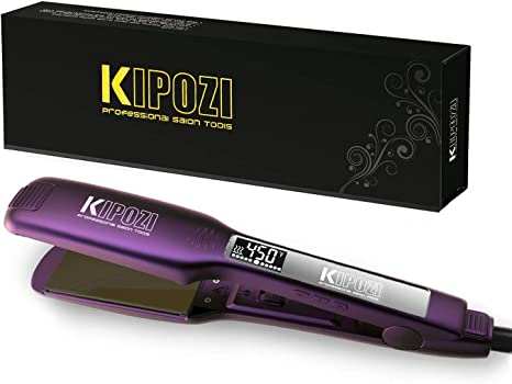 KIPOZI Pro Flat Iron with 1.75 Inch Titanium plates Hair