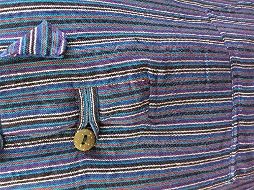 Shopoholic Mauve Grand Rayure Capuche Fashion Dharke père Léger Mélange Multicolore Chemise rfzqr4ITw