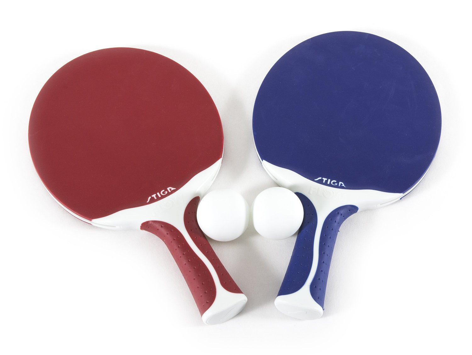 Stiga Flow Outdoor 2 Player Table Tennis Set Includes Two Outdoor Rackets And Two Outdoor Balls