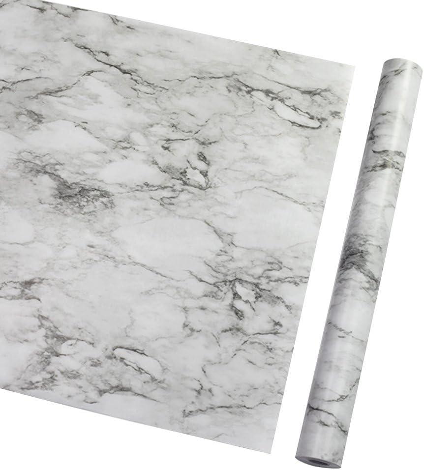 LIOOBO Papel Tapiz Grueso de PVC Papel de m/ármol Papel de Granito Sala de Estar Impermeable para Muebles Antiguos encimera de Cocina Dormitorio Papel de c/áscara y Palo