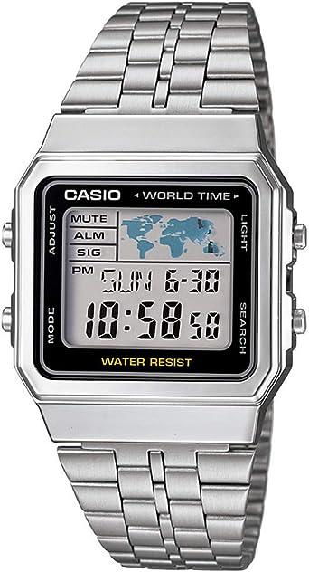 Casio Reloj Digital para Unisex de Cuarzo con Correa en Acero ...