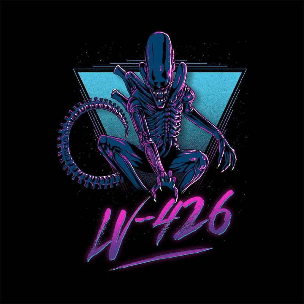 Cloud City 7 Alien Xenomorph 80s Neon Keyring