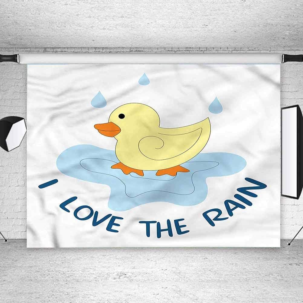 5x5FT Vinyl Photo Backdrops,Duckies,I Love The Rain Text Puddle Photoshoot Props Photo Background Studio Prop