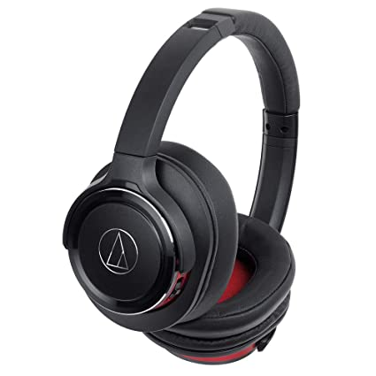 d96555eef4e Amazon.com: Audio-Technica ATH-WS660BTBRD Solid Bass Bluetooth Wireless  Over-Ear Headphones with Built-In Mic & Control, Black/Red: Electronics