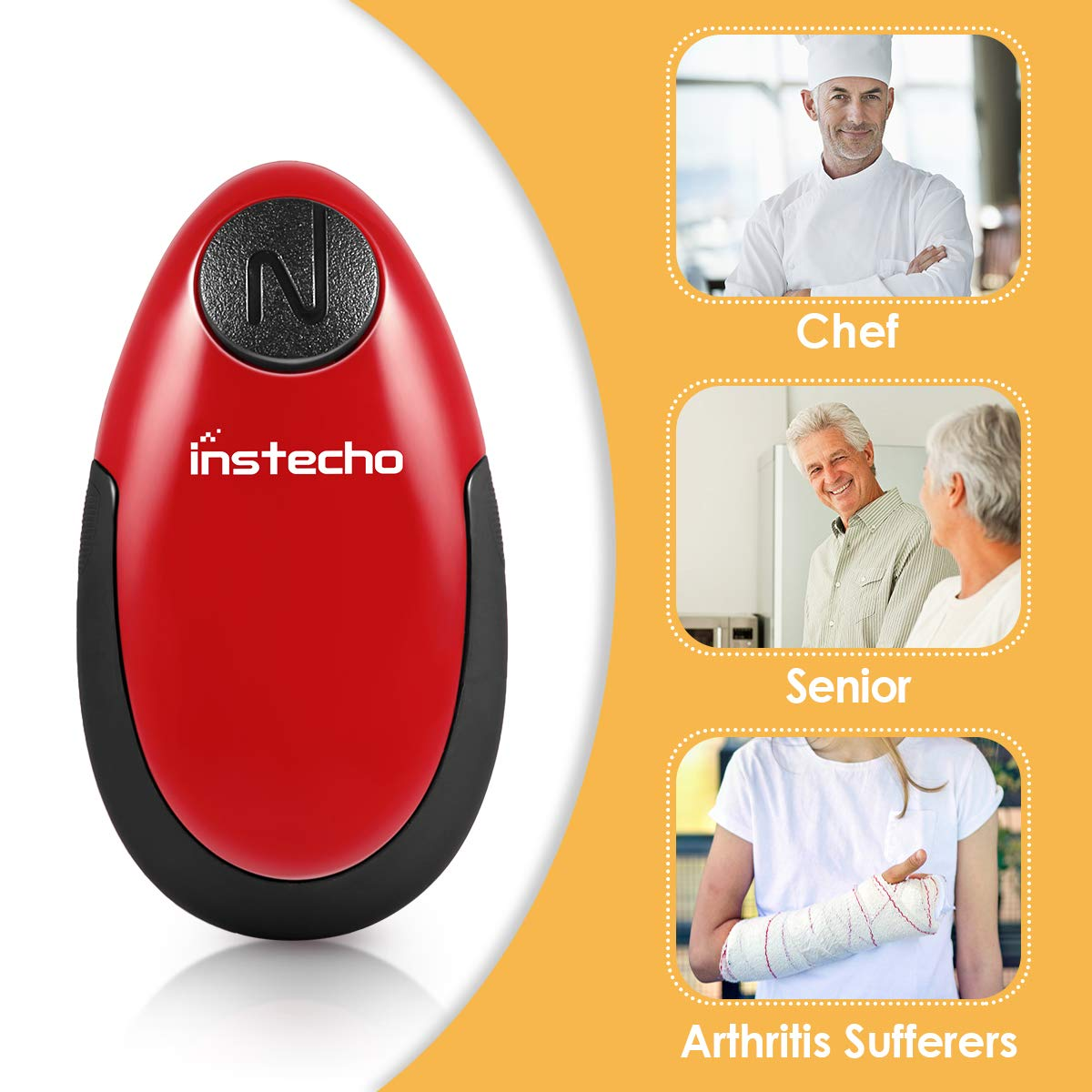 Electric Can Opener, Restaurant Can Opener, One Touch Can Opener, Full - Automatic Hands Free Can Opener, Chef's Best Choice by instecho (Image #2)