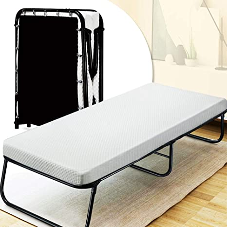 Awe Inspiring Quictent Heavy Duty Folding Bed With Two Extra Support Belts 300 Lbs Max Weight Capacity Guest Bed Daybed With 3D Stretch Knit Material Cover Unemploymentrelief Wooden Chair Designs For Living Room Unemploymentrelieforg