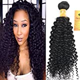 Black Rose Hair 24 inch Indian Jerry Curl Weave Human Hair Unprocessed Virgin Indian Remy Curly Hair Bundles Extensions Naturl Black Can Be Dyed and Bleached 100g/bundle Review