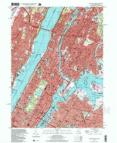 Central Park NY topo map, 1:24000 scale, 7.5 X 7.5 Minute, Historical, 1995, updated 1999, 26.9 x 22 IN - - Phipps Plaza