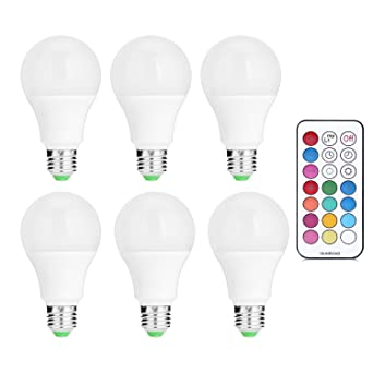 Bombillas LED SRY-E26/E27 de 10 W RGBW de bajo consumo SMD regulable