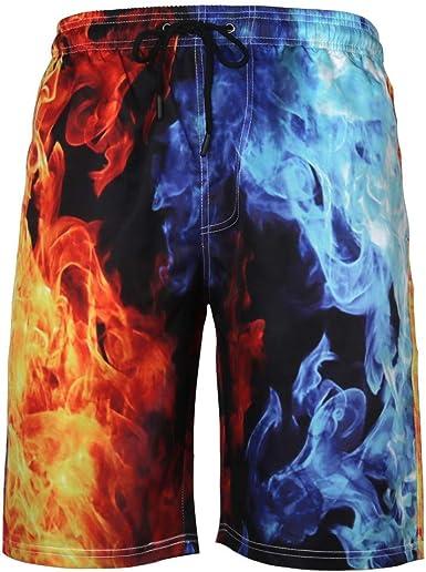 Mens New Beach Pants Summer Casual Plaid Printing Cotton Comfortable Loose Sports Beach Shorts Sky Blue XXXXL