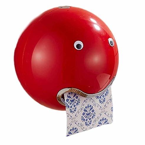 WC Papierhalter Frashing Ball Shaped Cute Emoji Toilettenpapierhalter Wasserdicht Toilettenpapier Box Rollenpapier Halter