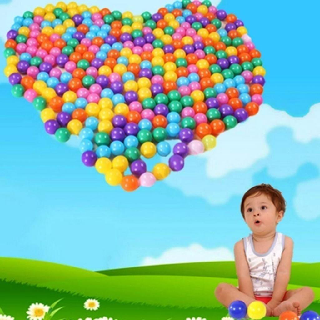 E Support 1000PCS Colorful Plastic Ball Pit Balls Baby Kids Tent Swim Toys Ball Pool Ball Ocean Ball