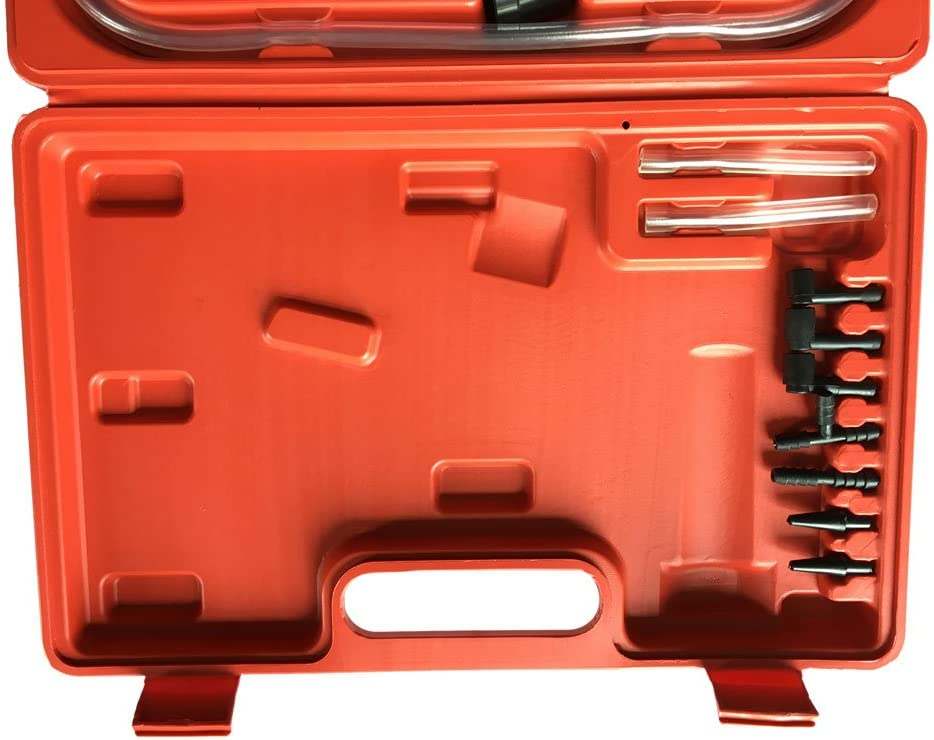 MILLION PARTS Hand Held Brake Fluid Bleeder Bleeding Tester /& Pistol Vacuum Pressure Pump Gauge Test Tuner Detector Tool Set with Adapters Case fit for Automotive Car Motorcycle