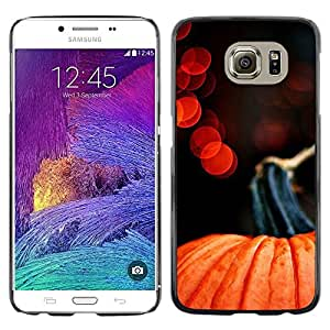 LECELL--Funda protectora / Cubierta / Piel For Samsung Galaxy S6 SM-G920 -- Halloween Lights Red Orange --