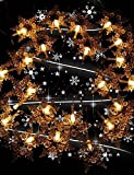 ZQ Character design Christmas Snowflake Lights Led Solar Outdoor Decoration Lamps Waterproof Tail Plug Copper Wire 10M 100Led , red