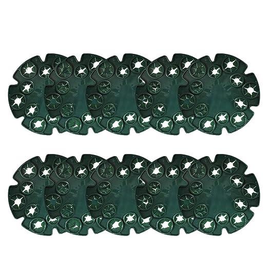 Oyria - 10 puños de plástico para bastón de Wigwam con 12 Agujeros ...