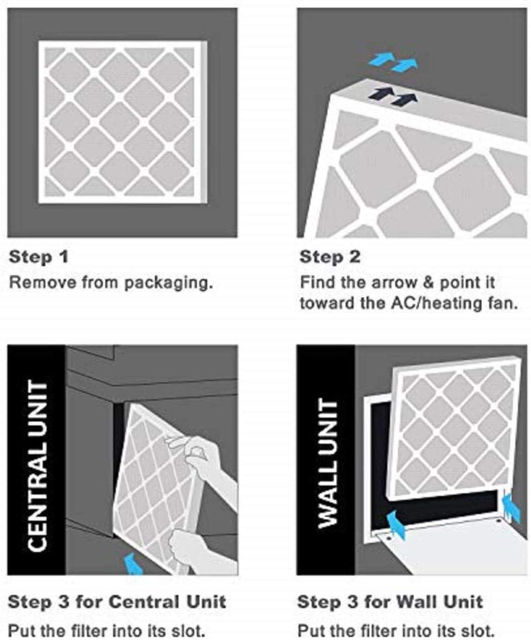 Merv 13/ 6/Pack AC und Ofen Air Filter von Aerostar 2,5/cm
