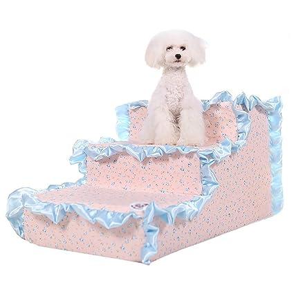 XUEYAN Escaleras de Perro pequeñas para Cama, peldaños de Gato de 3 Pasos para sofá