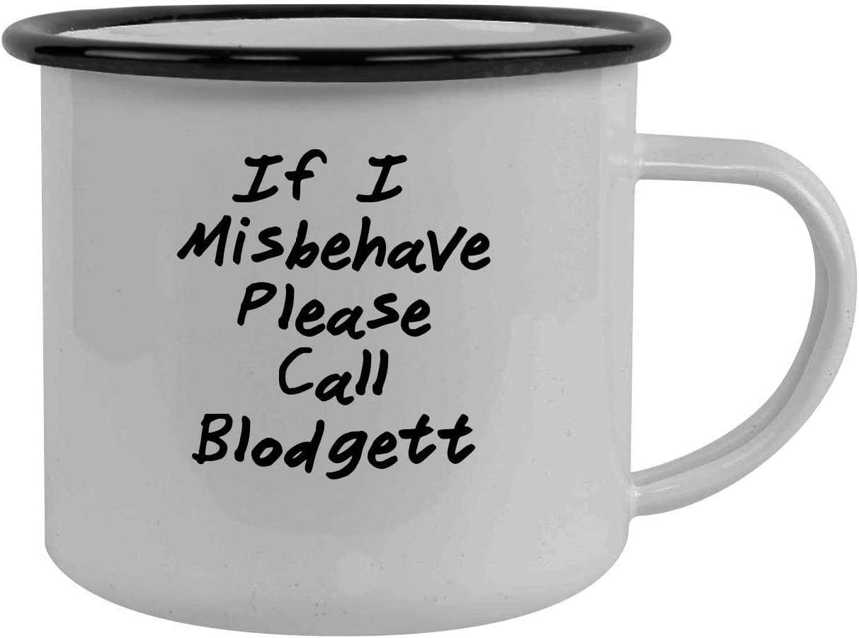 If I Misbehave Please Call Blodgett - Stainless Steel 12Oz Camping Mug, Black