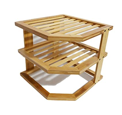 Pleasant Better Homes Garden 3 Tier Bamboo Corner Shelf For Download Free Architecture Designs Rallybritishbridgeorg