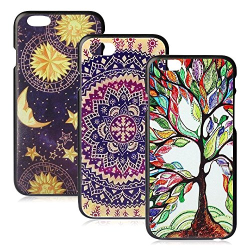 iPhone 6/6s Case, FiveBox Vintage Flowers Watercolor Artn/Love Tree/Vintage Tribal Tribe Pattern Back PC Hard Case [Scratch Resistant] Protective Skin Cover Ultra Slim Case for iPhone 6, 6s (4.7 inches)