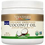 Spectrum Essentials Organic Coconut Oil, Unrefined, 15 Oz
