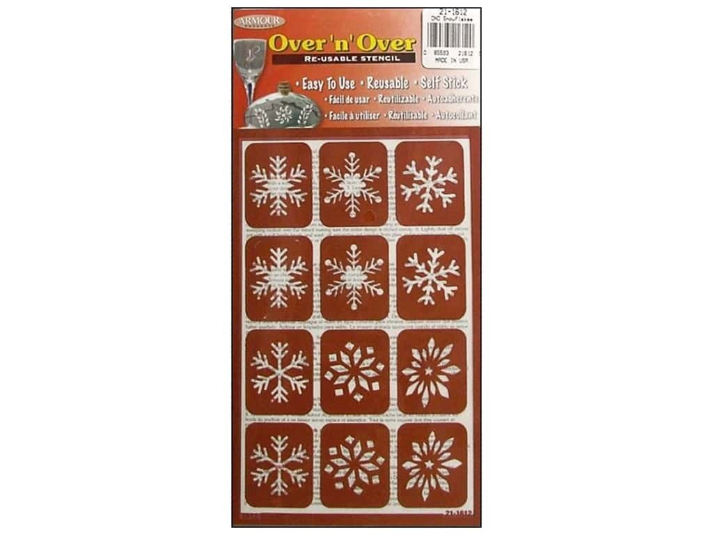 Armour Over 'N' Over Stencil Snowflakes GE21-1612