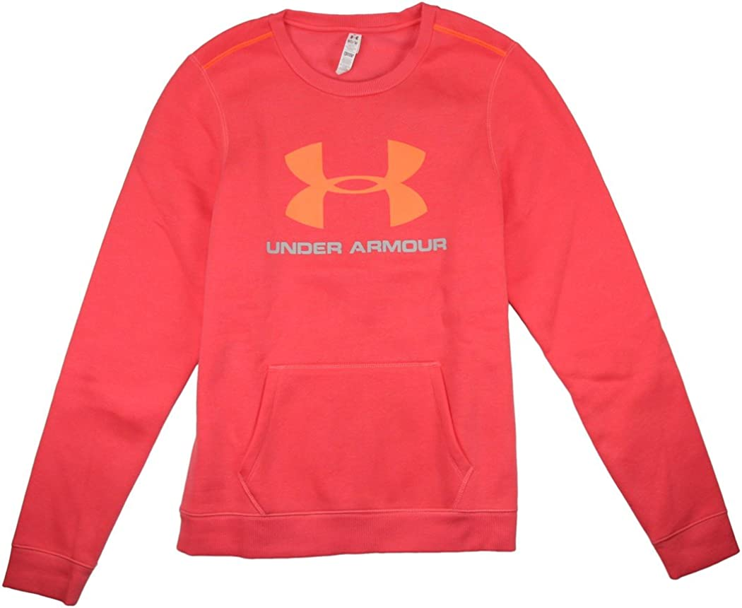 M Neo Pulse//Bright Pink Womens Under Armour Rival Cotton Crew