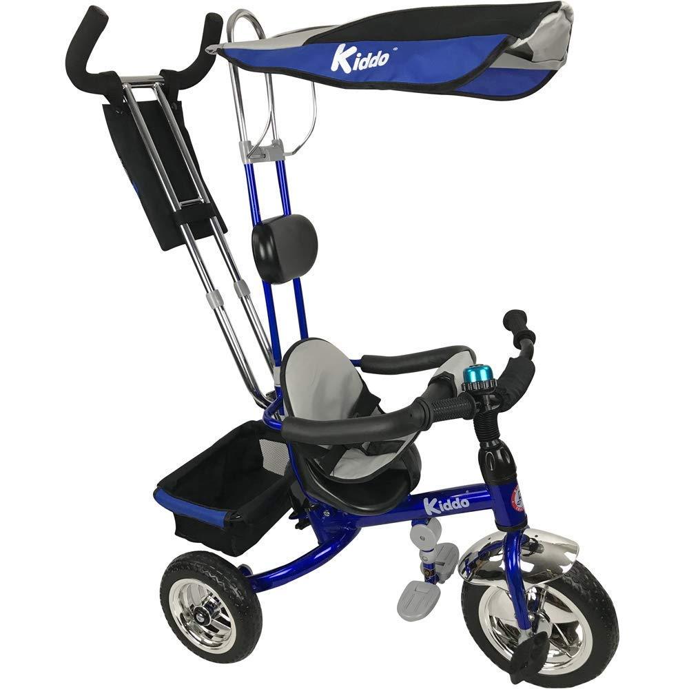 Dreirad ab 1 Jahr - 4 in 1 Dreirad Kiddo Blau