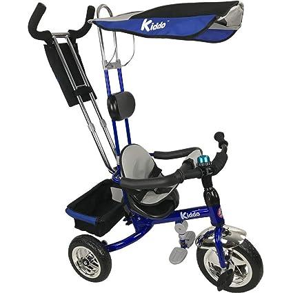 771640f6d11bc8 Kiddo Blau Smart Design 4-in-1 für Kinder Dreirad Kinder Trike 3 Räder  Fahrrad Eltern Neue (Blau)